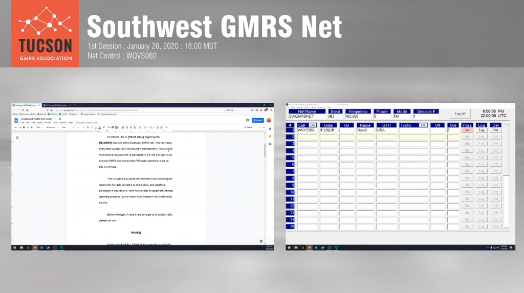 Southwest GMRS Net – Session 1