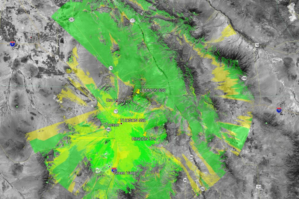 Tucson Metro Area GMRS Repeaters